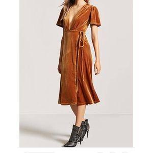 Forever 21 Velvet Wrap Dress
